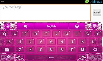 Screenshot of GO Keyboard Purple Glow
