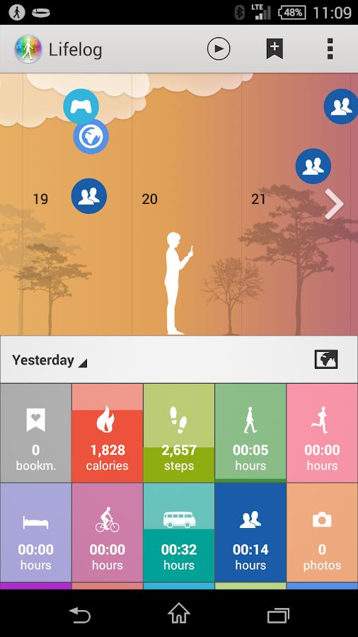 Lifelog - screenshot