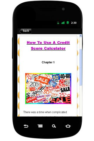 How To Credit Score Calculator - screenshot