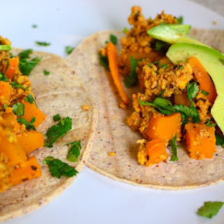 Butternut Squash Tacos with Vegan Tempeh Chorizo