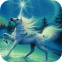 Horse and northern lights LWP icon