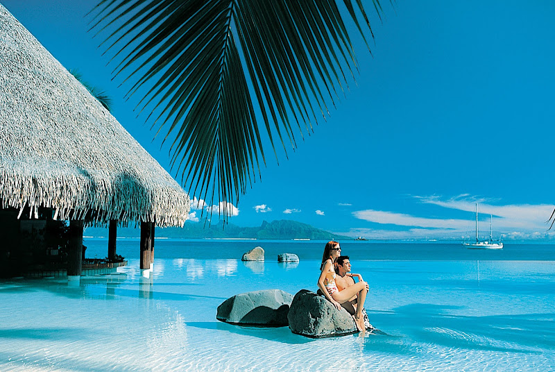 Step into a magazine cover when the Paul Gauguin takes you to the InterContinental Resort Tahiti's sublime infinity pool.