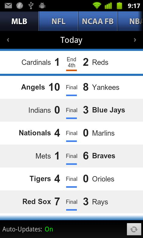 Sports Scores & Alerts- screenshot