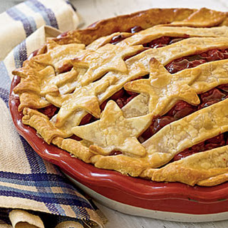 Stars-and-Stripes Cherry Pie