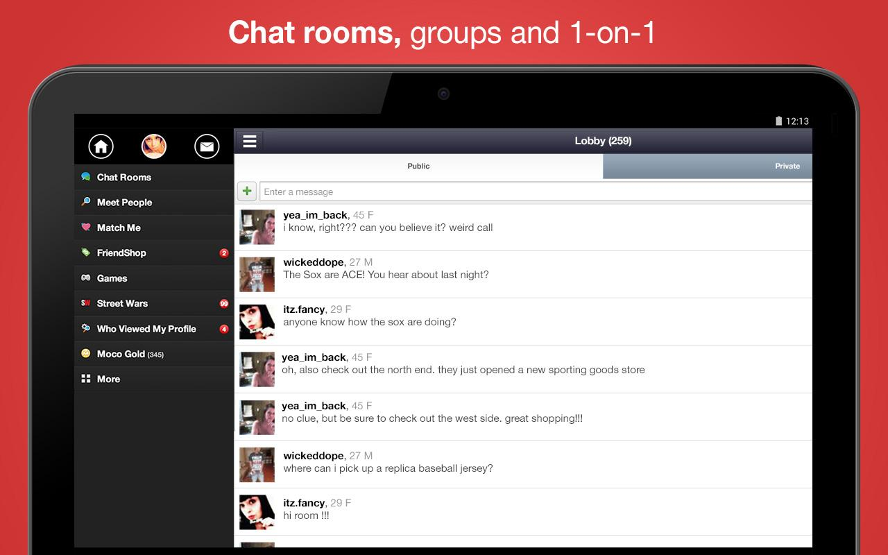 Chat, Meet People - Moco - screenshot