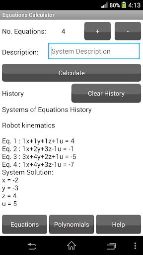 Equations Calculator FreeTrial