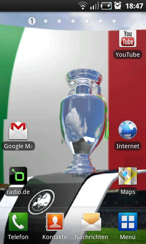 Euro Live Wallpaper Italia - screenshot