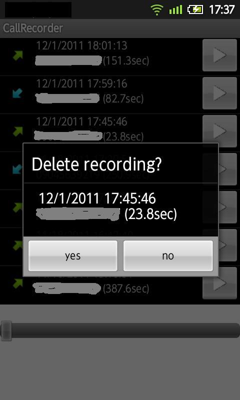 CallRecorder(free) - screenshot