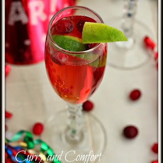 Cranberry Champagne Cocktail.