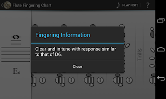 Screenshot of Flute Fingering Chart