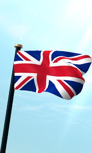 英国フラグ3Dライブ壁紙