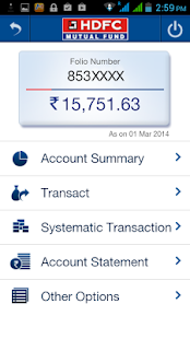 HDFCMFMobile- screenshot thumbnail