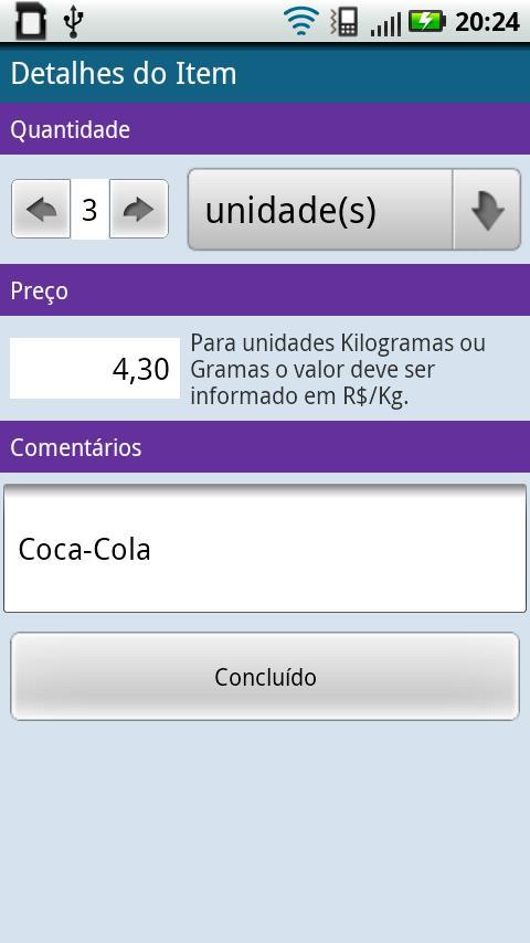 QQFalta - Lista de Compras- screenshot
