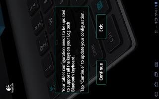Screenshot of Logitech Keyboard Config App