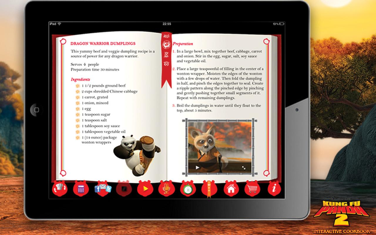 Kung Fu Panda Digital CookBook - screenshot