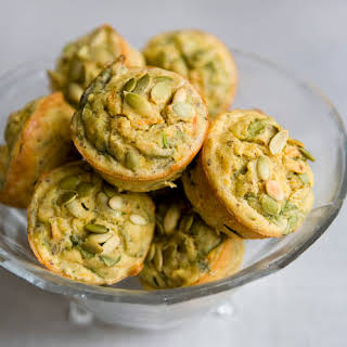 Gluten Free Spinach and Carrot Muffins.