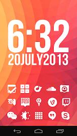 Stamped White Icons Screenshot 1