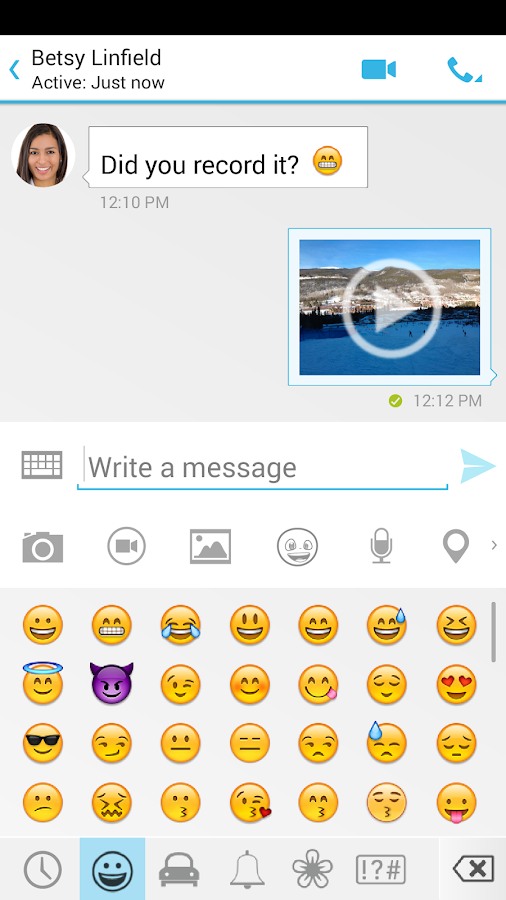 Messaging - SMS & Video Chat- screenshot