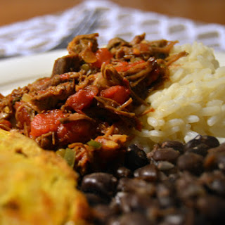 Venezuelan Pabellón Criollo (Shredded Beef with Black Beans)