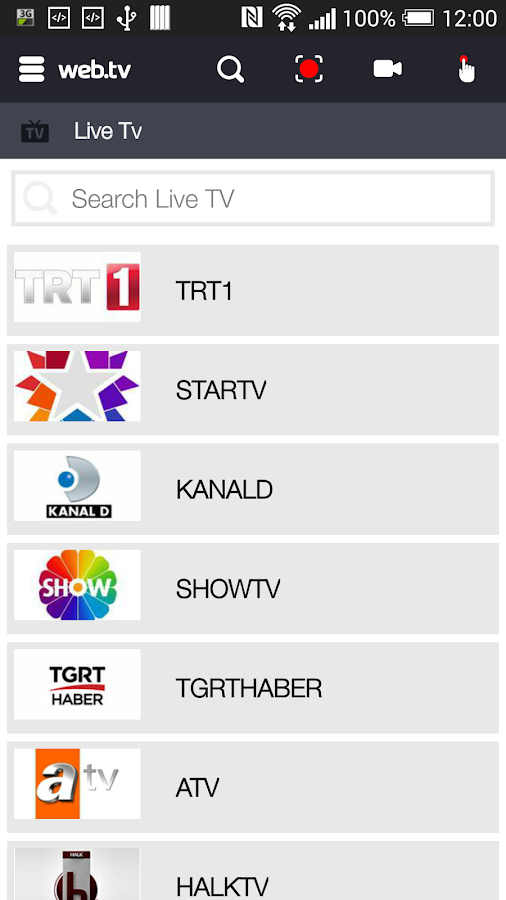 Web TV- screenshot