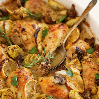Lemon and Artichoke Oven Roasted Chicken