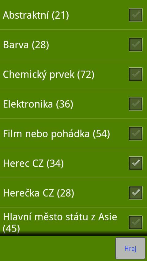 Oběšenec CZ - screenshot