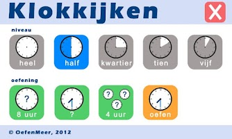 Screenshot of Klokkijken (gratis)