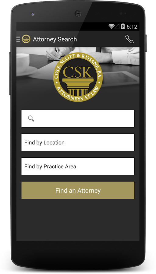 CSK Legal App- screenshot