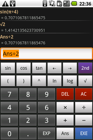Mathdroid- screenshot