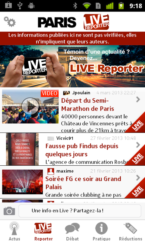 Paris Live - screenshot