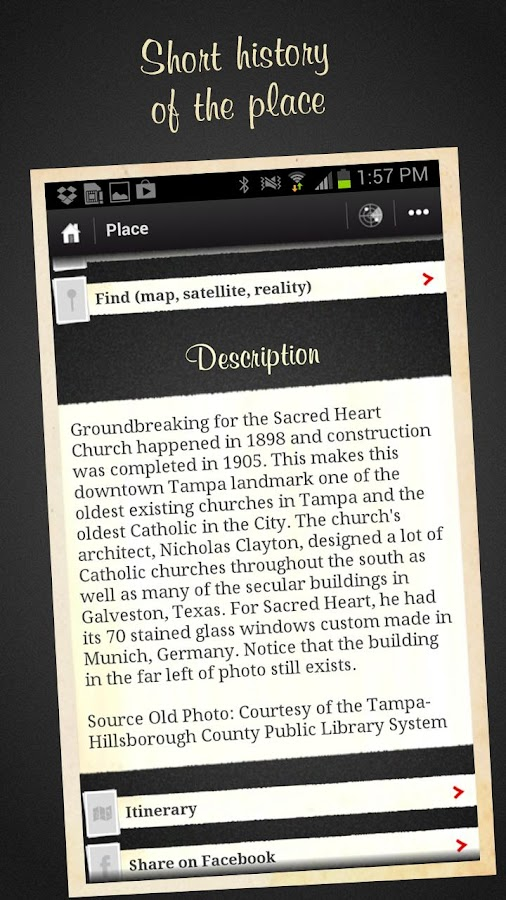 Tampa, Then and Now City Guide- screenshot