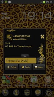 Theme Leopard for GO SMS Pro- screenshot thumbnail