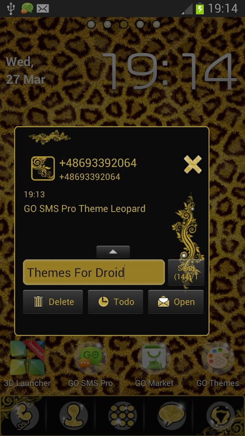 Theme Leopard for GO SMS Pro- screenshot