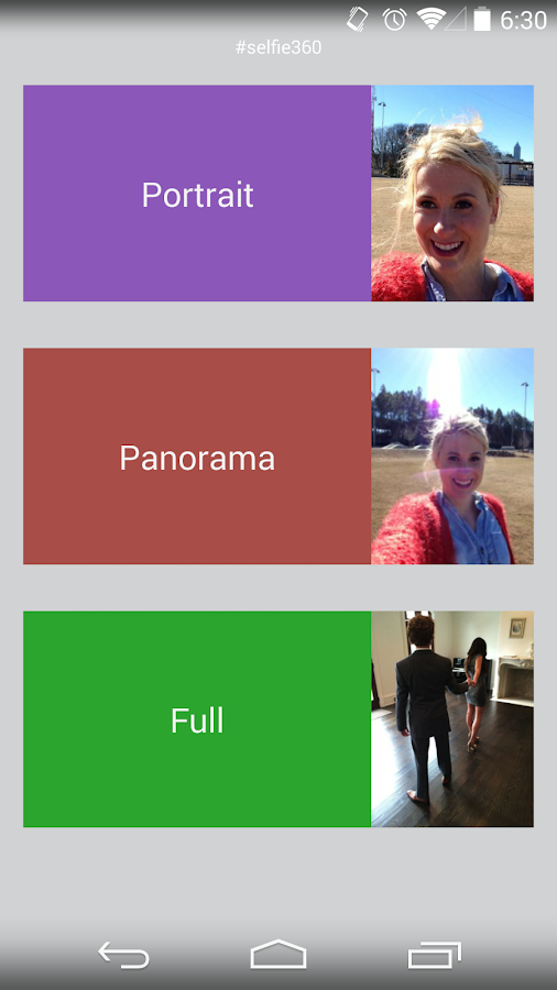 Selfie360 - screenshot