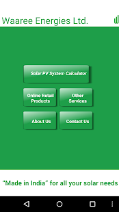 PV Solar Calculator by Waaree- screenshot thumbnail