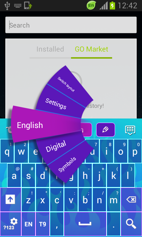 Flame Keyboard Free - screenshot