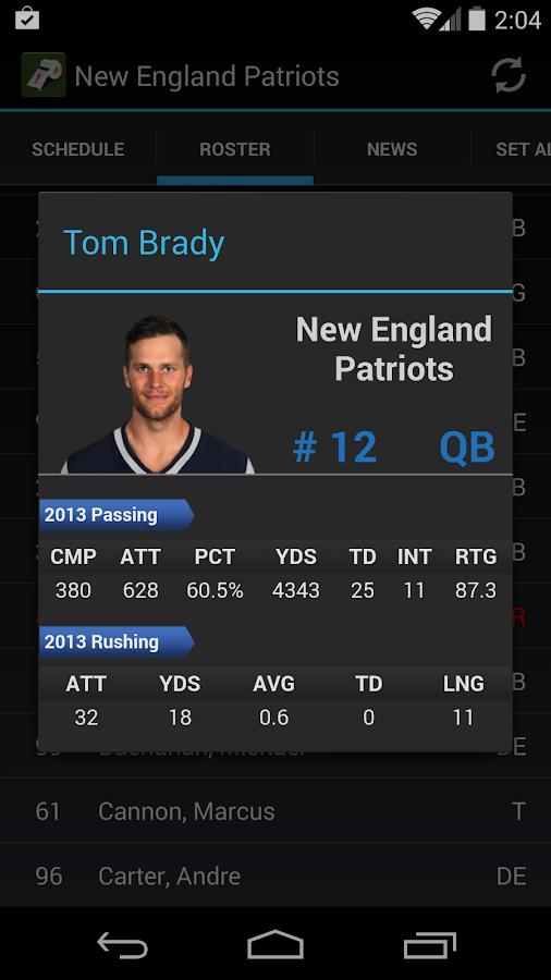 Sports Alerts - pro football - screenshot