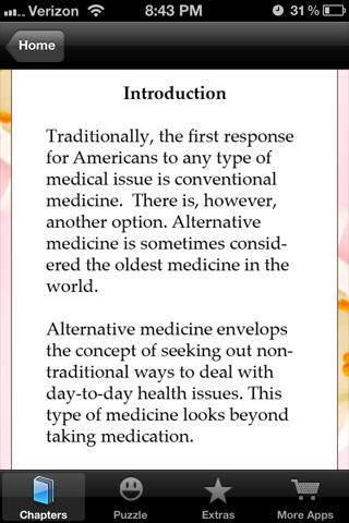 the advantages of alternative medicine recovery without application of medication Bernstein bj, grasso t prevalence of complementary and alternative medicine use in cancer patients oncology (huntingt) 2001 15: 1267 –1272 discussion 1272–1278, 1283.
