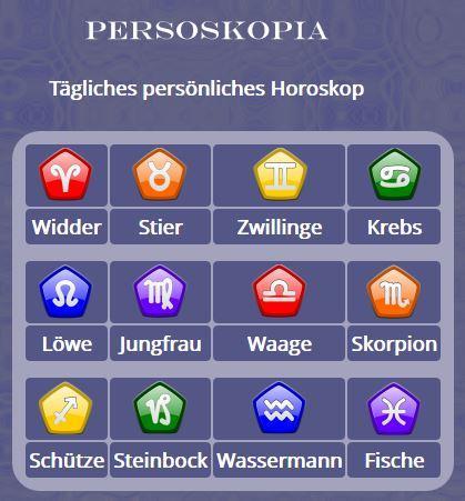 Persoskopia - Horoskop deutsch