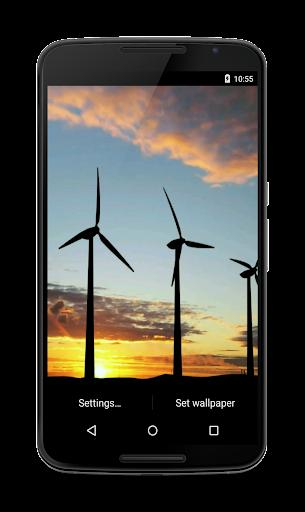 Windmills Video Live Wallpaper