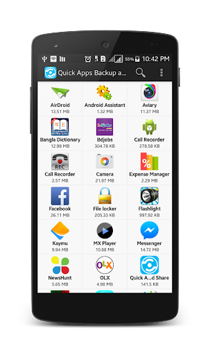 Quick Apps Backup and Share