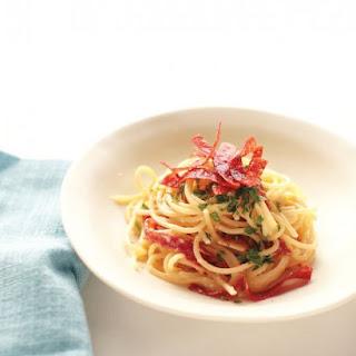 Creamy Pasta with Crispy Salami