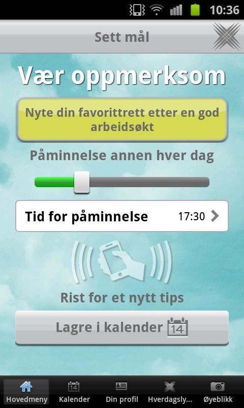 Hverdagslykke - screenshot