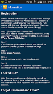 maxTV Remote PVR - AppRecs