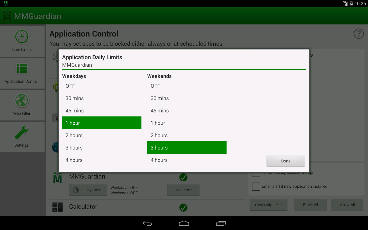 MMGuardian™ Tablet Security - screenshot
