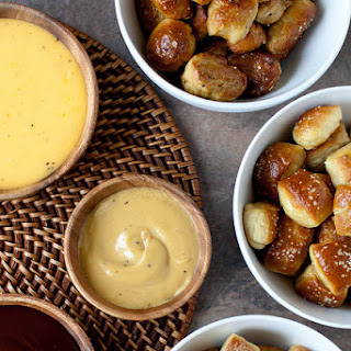 Soft Pretzel Bites, Three Ways.