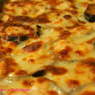 Eggplant and Prawn Gratin.