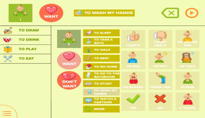 Touch and Speak: Autism AAC- screenshot thumbnail