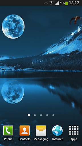 【免費個人化App】Blue Moon Live Wallpaper HD-APP點子