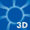 3D Sun icon